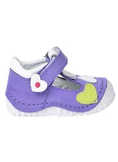 Kiko Kids Kiko Kids Teo 105 %100 Deri Orto pedik Cırtlı Kız Çocuk Ayakkabı Lila